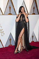 Taraji P. Henson arrives on the red carpet of The 90th Oscars&reg; at the Dolby&reg; Theatre in Hollywood, CA on Sunday, March 4, 2018.<br /> *Editorial Use Only*<br /> CAP/PLF/AMPAS<br /> Supplied by Capital Pictures
