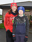 Alison Murphy and her son Luke who took part in the Goal Mile at St Fechins GAA club on St Stephen's morning. Photo:Colin Bell/pressphotos.ie
