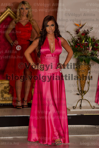 Evelin Beres runner up of the Miss Hungary beauty contest held in Budapest, Hungary on December 29, 2011. ATTILA VOLGYI