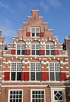 Nederland Leiden 2015 10 03 . Trapgevel in de binnenstad van Leiden. Foto Berlinda van Dam / Hollandse Hoogte