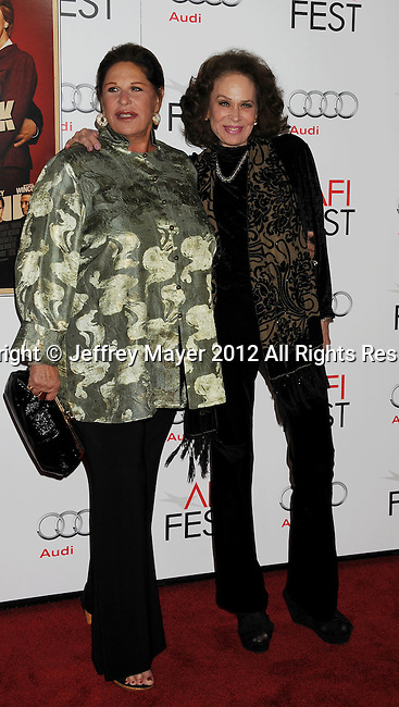 HOLLYWOOD, CA - NOVEMBER 01: Lainie Kazan and Karen Black  arrive at the opening night gala premiere of 'Hitchcock' during the 2012 AFI FEST at Grauman's Chinese Theatre on November 1, 2012 in Hollywood, California.