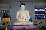 Buddha statue figure at Bandaranayake International Airport, Colombo, Sri Lanka, Asia