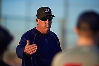 Dave Burba coaches for the Indians during the Under Armour Baseball Factory Recruiting Classic at Gene Autry Park on December 27, 2017 in Mesa, Arizona. (Zachary Lucy/Four Seam Images)