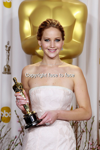 Jennifer Lawrence attending the 85th Academy Awards at the Hollywood and Highland Center in Hollywood, California, 24.02.2013...Credit: MediaPunch/face to face..- Germany, Austria, Switzerland, Eastern Europe, Australia, UK, USA, Taiwan, Singapore, China, Malaysia and Thailand rights only -