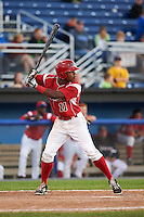 Batavia Muckdogs outfielder Stone Garrett (11) at bat during a game against the Mahoning Valley Scrappers on June 23, 2015 at Dwyer Stadium in Batavia, New York.  Mahoning Valley defeated Batavia 11-2.  (Mike Janes/Four Seam Images)