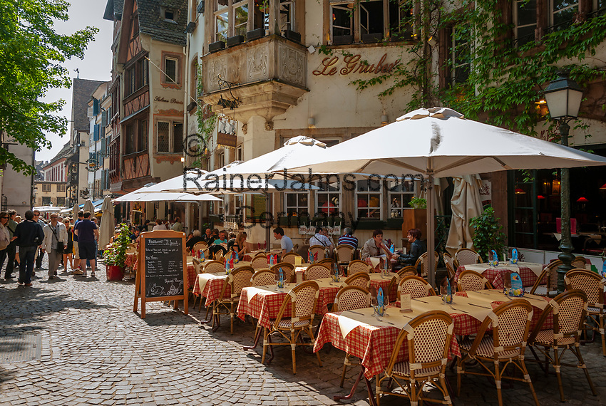 France, Alsace, Department Bas-Rhin, Strasbourg: Restaurant Le Gruber at Rue du Maroquin | Frankreich, Elsass, Départements Bas-Rhin, Strassburg: Restaurant Le Gruber in der Rue du Maroquin