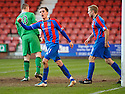 CALEY'S NICK ROSS CELEBRATES AFTER HE SCORES INVERNESS' EQUALISING GOAL
