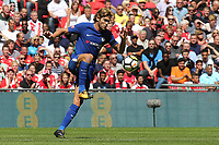 Marcos Alonso of Chelsea in action during Arsenal vs Chelsea, FA Community Shield Football at Wembley Stadium on 6th August 2017