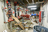 Central High School Bridgeport CT Expansion & Renovate as New. State of CT Project # 015-0174. Classroom. One of 82 Photographs of Progress Submission 42, 1 August 2018 Fire Supression Room A26