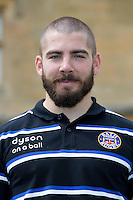 Jameson Mola, First Team Strength and Conditioning Coach poses for a portrait at a Bath Rugby photocall. Bath Rugby Media Day on August 28, 2014 at Farleigh House in Bath, England. Photo by: Rogan Thomson for Onside Images
