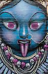 Street art outside Fiji Indian Market in Newtown, Sydney, NSW, Australia.