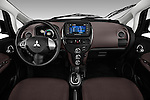Dashboard view of a 2012 Mitsubishi MiEV SE.