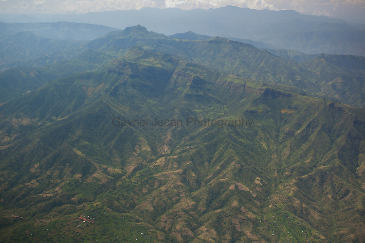 Aerials over the Agricultural fields in central Ethiopia