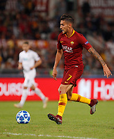 Roma's Lorenzo Pellegrini in action during the Champions League football match between Roma and Viktoria Plzen at Rome's Olympic stadium, October 2, 2018.<br /> UPDATE IMAGES PRESS/Riccardo De Luca