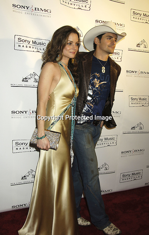 Brad Paisley and wife Kimberly Williams-Paisley ..arriving at the Sony BMG celebration of the 2005 Country Music Awards on November 15, 2005 at Gotham Hall. ..Photo by Robin Platzer, Twin Images