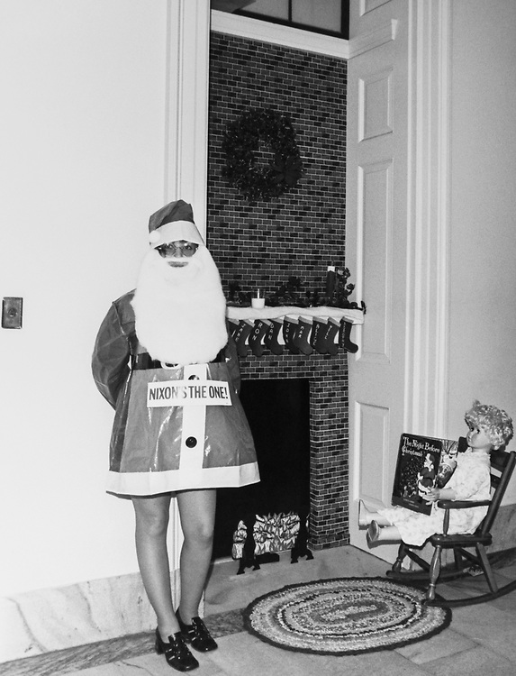 Staff member dressed up in Santa Claus outfit around Christmas. (Photo by Dev O'Neill/CQ Roll Call via Getty Images)