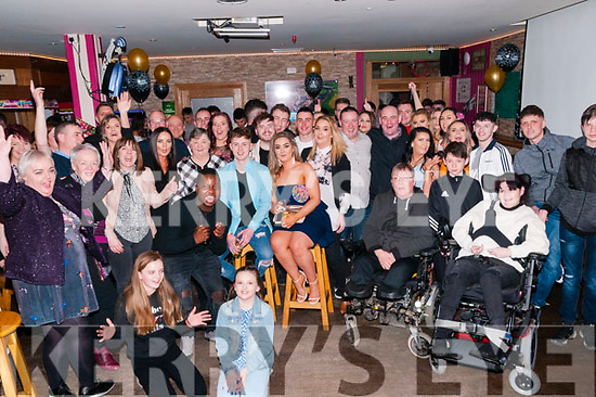 Double celebration: 1st cousins Christian Elbell & Adi Canty, Listowel celebrating their 21st & 18th birthdays together at Christy's Bar, Listowl on Saturday night last.