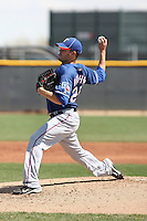 Jake Brigham of the Texas Rangers  plays in a minor league spring training game against the Kansas City Royals at the Rangers complex on March 22, 2011  in Surprise, Arizona. .Photo by:  Bill Mitchell/Four Seam Images.