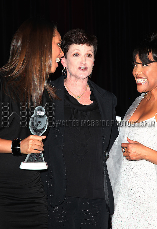 Terria Joseph & daughter Alicia Keys with Lynn Whitfield.attending the Woodie King Jr's NFT New Federal Theatre 40th Reunion Gala Benefit Awards Presentation in New York City.