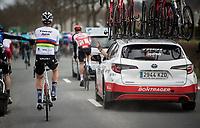World Champion Mads Pedersen (DEN/Trek-Segafredo)<br /> <br /> 72nd Kuurne-Brussel-Kuurne 2020 (1.Pro)<br /> Kuurne to Kuurne (BEL): 201km<br /> <br /> ©kramon