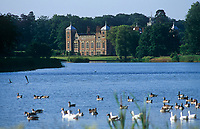 The north front of Blickling seen from across the lake