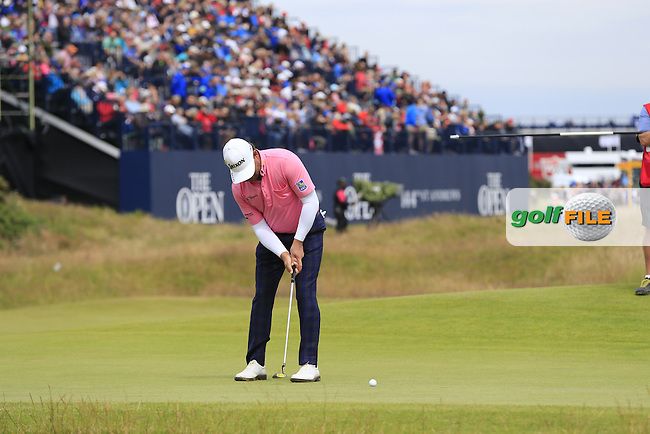 Graeme McDOWELL (NIR) putts on the 17th green during Monday's Final Round of the 144th Open Championship, St Andrews Old Course, St Andrews, Fife, Scotland. 20/07/2015.<br /> Picture Eoin Clarke, www.golffile.ie