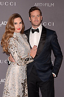 LOS ANGELES, CA - NOVEMBER 04: Elizabeth Chambers, Armie Hammer at the 2017 LACMA Art + Film Gala Honoring Mark Bradford And George Lucas at LACMA on November 4, 2017 in Los Angeles, California. <br /> CAP/MPI/DE<br /> &copy;DE/MPI/Capital Pictures