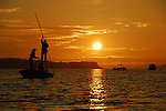 FLY FISHING AT SUNSET IN CASCO BAY, MAINE