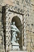 Religious Statue on buildings in Birgu (Vittoriosa), Malta