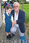 Dana Casey with her Grandfather Gerry Casey on her first day of school in Balloonagh, Tralee.   Copyright Kerry's Eye 2008