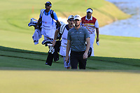 Thomas Pieters (BEL) at the 18th green during Thursday's Round 1 of the 2018 Turkish Airlines Open hosted by Regnum Carya Golf &amp; Spa Resort, Antalya, Turkey. 1st November 2018.<br /> Picture: Eoin Clarke | Golffile<br /> <br /> <br /> All photos usage must carry mandatory copyright credit (&copy; Golffile | Eoin Clarke)