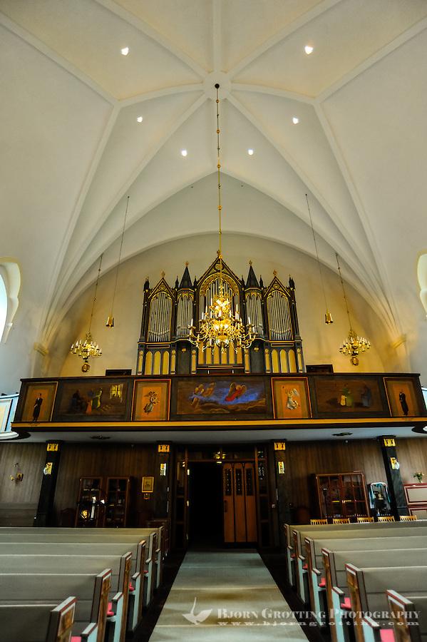 Sweden, Värmland, Sunne. Sunne Church is a large stone church built in 1888. Interior of the church.