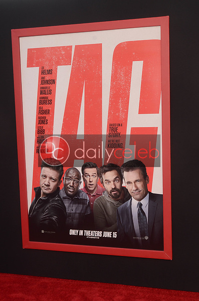 """Poster<br /> at the """"Tag"""" World Premiere, Village Theater, Westwood, CA 06-07-17<br /> David Edwards/DailyCeleb.com 818-249-4998"""