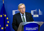 BRUSSELS - BELGIUM - 21 January 2015 --  Jean-Claude JUNCKER the President of the European Commission at the press conference  during the visit of the Prime Minister of Norway. -- Photo: Juha ROININEN / EUP-IMAGES / Prime Ministers Office