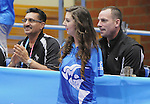 November 18 2011 - Guadalajara, Mexico:  Canada's Minister of Sport Bal Gosal watches Canada take on Columbia in the Bronze Medal Game in the Pan American Volleyball Complex at the 2011 Parapan American Games in Guadalajara, Mexico.  Photos: Matthew Murnaghan/Canadian Paralympic Committee