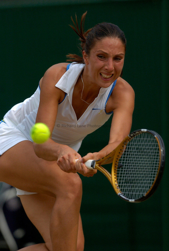 Photo: Richard Lane..Wimbledon Championships. 04/07/2006. .Anastasia Myskina of Russia returns.