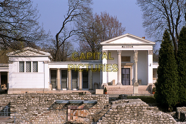 Remains of Roman town of Aquincum, Obuda, near Budapest, Hungary