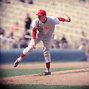 Philadelphia Phillies Jim Bunning (14) during a game from his 1967 season with the Philadelphia Phillies. Jim Bunning played for 17 years with 4 different teams. He was 7-time All-Star and was inducted to the Baseball Hall of Fame in 1996