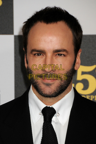 TOM FORD .25th Annual Film Independent Spirit Awards - Arrivals held at the Nokia Event Deck at L.A. Live, Los Angeles, California, USA..March 5th, 2010.headshot portrait black white beard facial hair  .CAP/ADM/BP.©Byron Purvis/AdMedia/Capital Pictures.