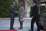 Former Queen Sofia of Spain attends the Inigo Alvrez de Toledo Awards ceremony with Pio Garcia-Escudero at Senado in Madrid, Spain. October 27, 2014. (ALTERPHOTOS/Victor Blanco)