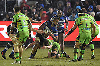 Levi Douglas of Bath Rugby in possession. Anglo-Welsh Cup Semi Final, between Bath Rugby and Northampton Saints on March 9, 2018 at the Recreation Ground in Bath, England. Photo by: Patrick Khachfe / Onside Images