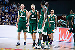 RPanathinaikos Matt Lojeski, Nick Calathes, Kenny Gabriel, Chris Singleton and Mike James during Turkish Airlines Euroleague Quarter Finals 3rd match between Real Madrid and Panathinaikos at Wizink Center in Madrid, Spain. April 25, 2018. (ALTERPHOTOS/Borja B.Hojas)