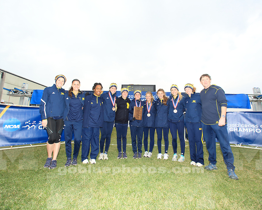 The University of Michigan women's cross country team finished first at the NCAA Great Lakes Regional Championships at the Zimmer Championship Course in Madison, Wisc., on November 9, 2012.
