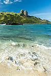 Waya Island taken from Kuata Island in the Yasawa's, Fiji Islands
