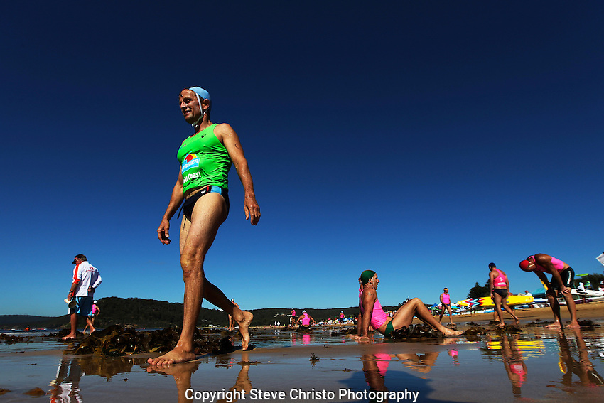 Allphones NSW Masters and Open Surf Life Saving Championships Ocean Beach, Umina on the central coast of NSW.  Sydney, Australia. Thursday, March 7th  2013. (Photo: Steve Christo).