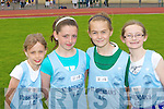 Ava Peevers, Sally O'Mahony, Lauren O'Grady and Ciara McCarthy St Brendan's at the Gneeveguilla AC open athletics meet in Castleisland on Sunday..