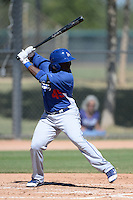 Los Angeles Dodgers first baseman O'Koye Dickson (45) during an Instructional League game against the Arizona Diamondbacks on October 8, 2013 at Camelback Ranch Complex in Glendale, Arizona.  (Mike Janes/Four Seam Images)
