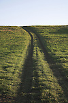 Uphill track, Suffolk farming landscape scenery, East Anglia, England