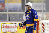 Buffalo Junior Sabres forward Ryan Schmelzer (10) during a game against the St. Michaels Buzzers at the Frozen Frontier outdoor game at Frontier Field on December 15, 2013 in Rochester, New York.  St. Michael's defeated Buffalo 5-4.  (Copyright Mike Janes Photography)