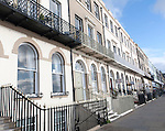 Guest houses and small hotels offering bed and breakfast accommodation on the Esplanade, Weymouth, England, UK